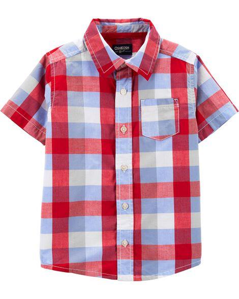 29ea5353993 Toddler Boy Plaid Button-Front Shirt | OshKosh.com