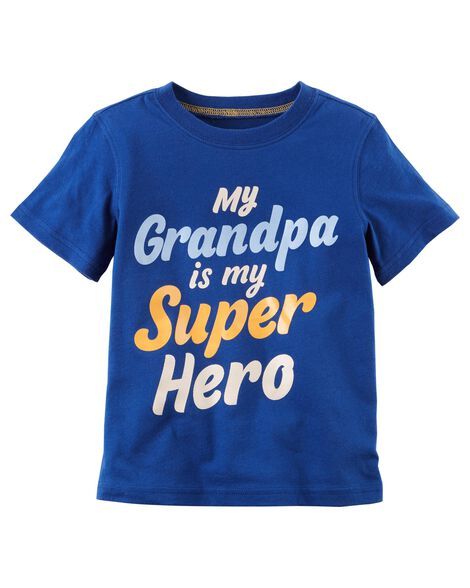 Grandpa Is My Super Hero Jersey Tee