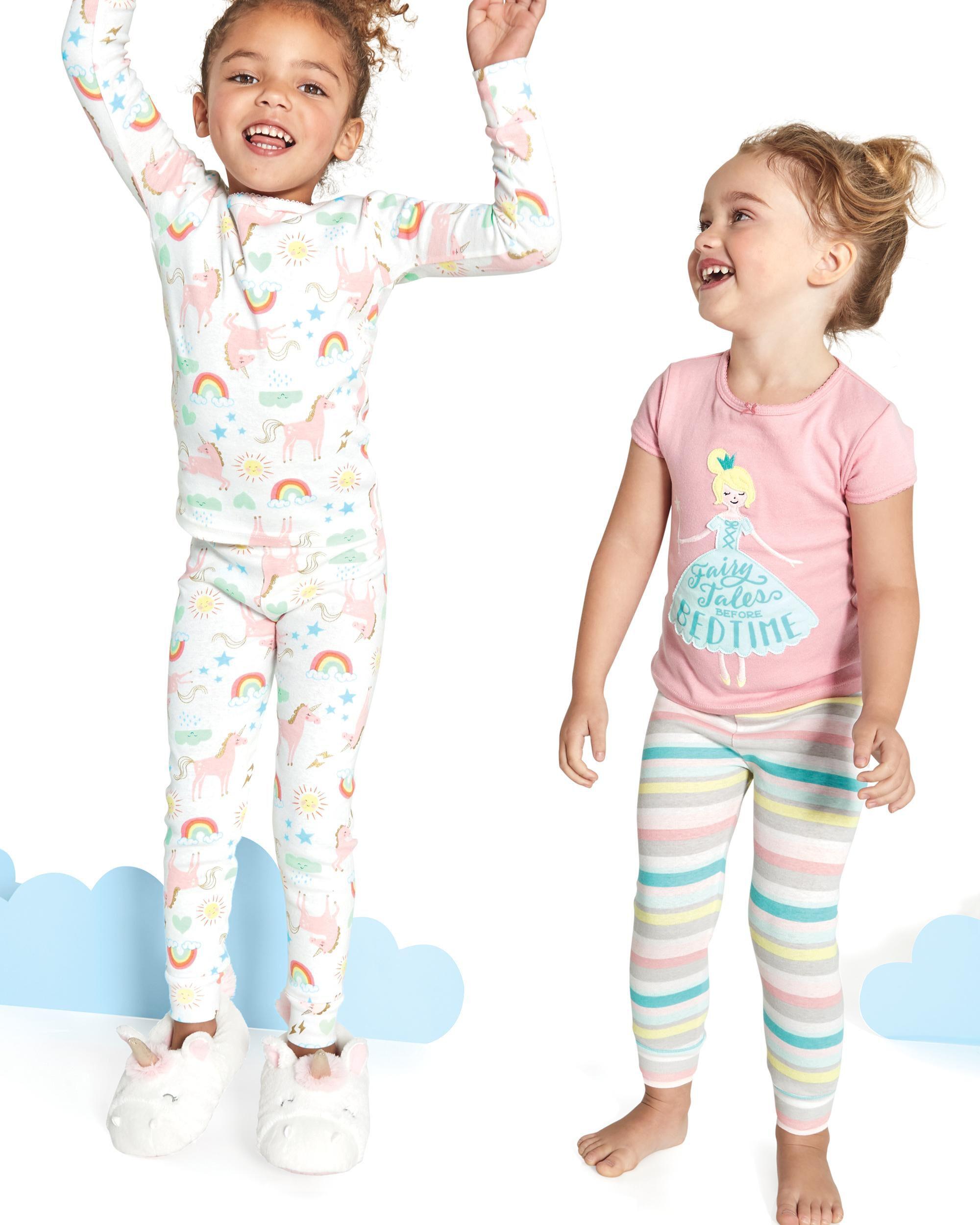af97bafceec9 4-Piece Unicorn Snug Fit Cotton PJs