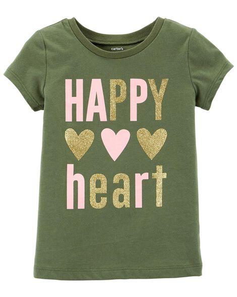 9196d8fb Happy Heart Jersey Tee | Carters.com