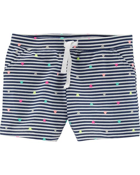 Striped Polka Dot French Terry Shorts