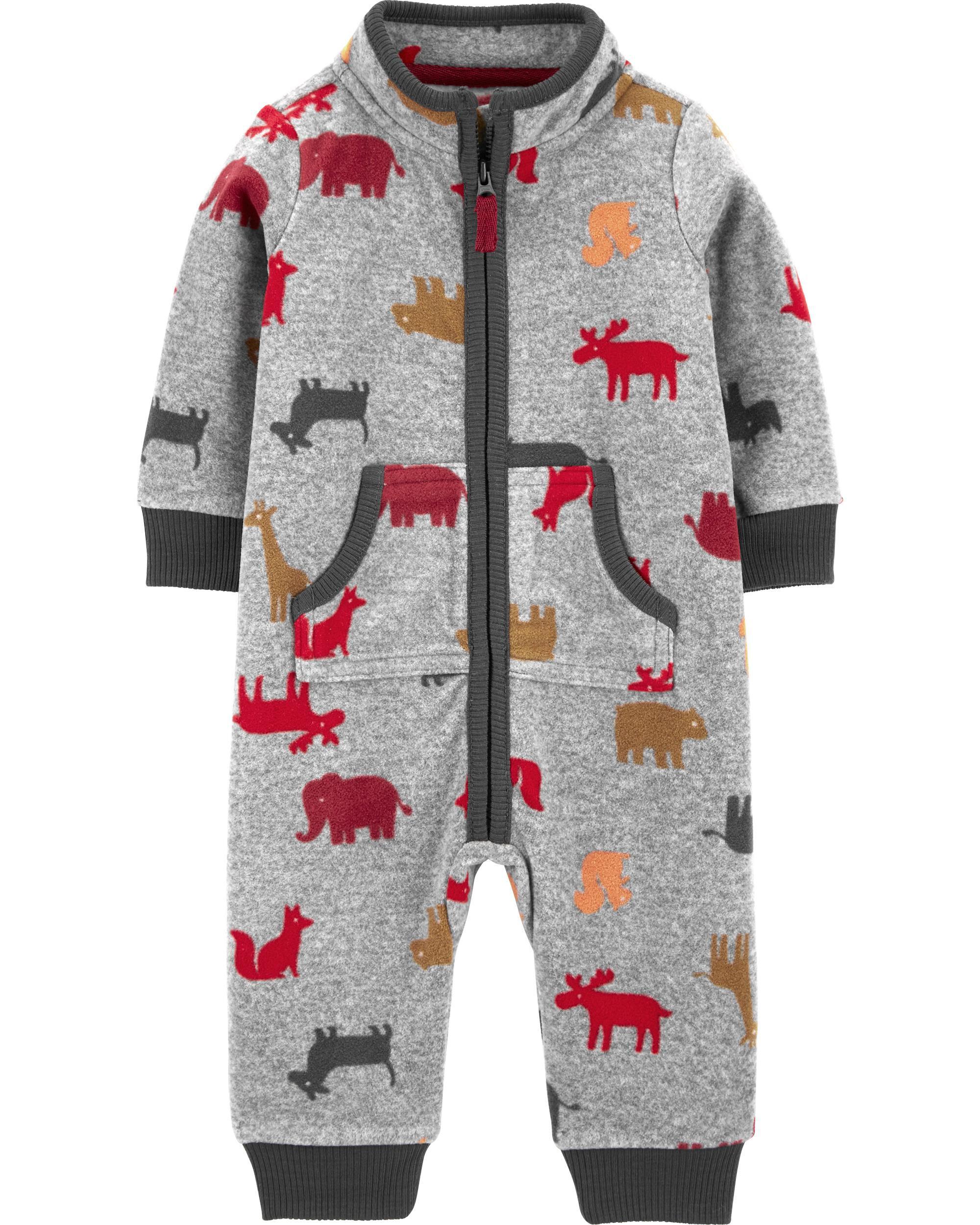 *DOORBUSTER* Animal Print Fleece Jumpsuit