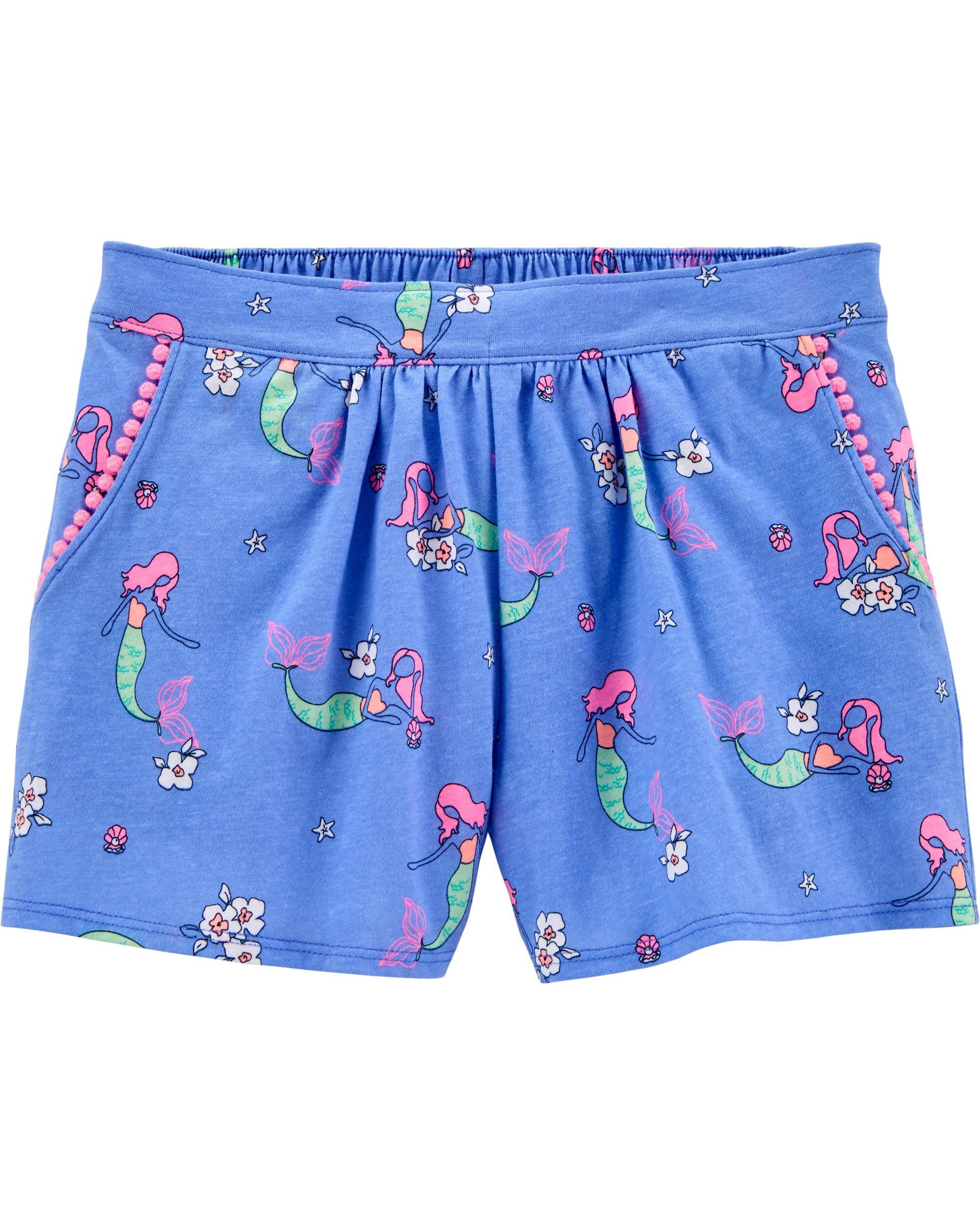 *CLEARANCE* Mermaid Pom Pom Shorts