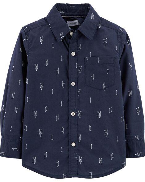 Poplin Button-Front Shirt