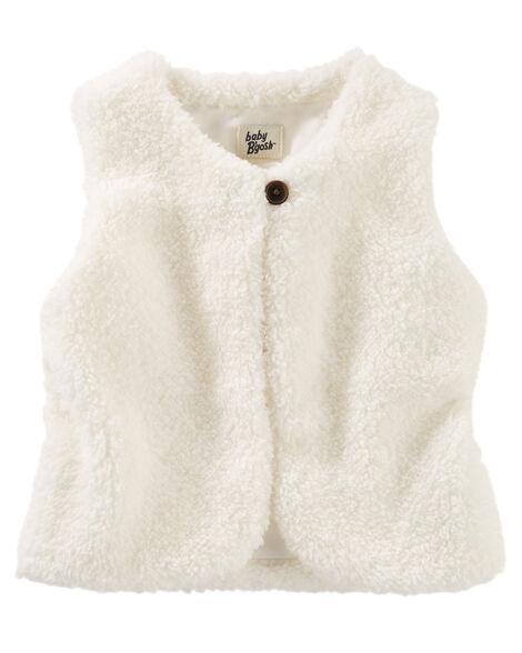 f29e687d0451 Baby Girl Sherpa Vest
