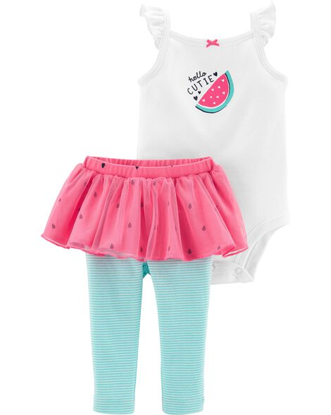 c3eb79ee7 2-Piece Watermelon Bodysuit & Tutu Pant Set | Carters.com