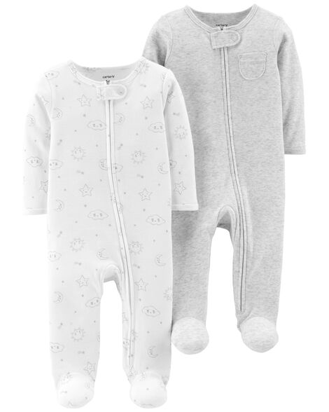 2-Pack Zip-Up Cotton Sleep & Play