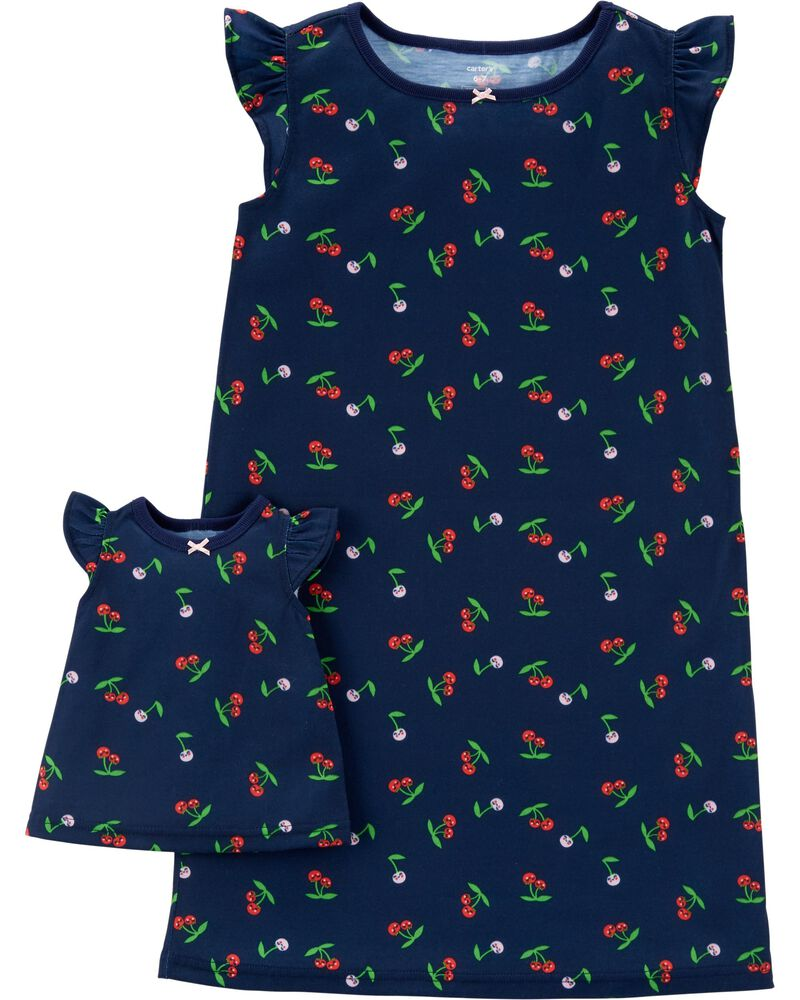 NWT Carter's Christmas Doll Gown for American Girl Dolls 9 in to 18 in