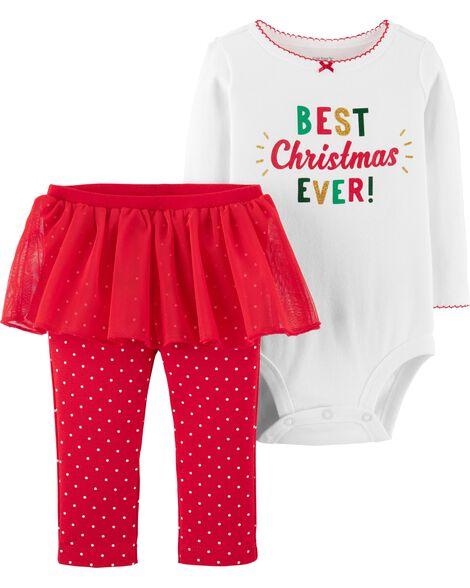 0070aa74a 2-Piece Christmas Bodysuit & Tutu Pant Set | Carters.com