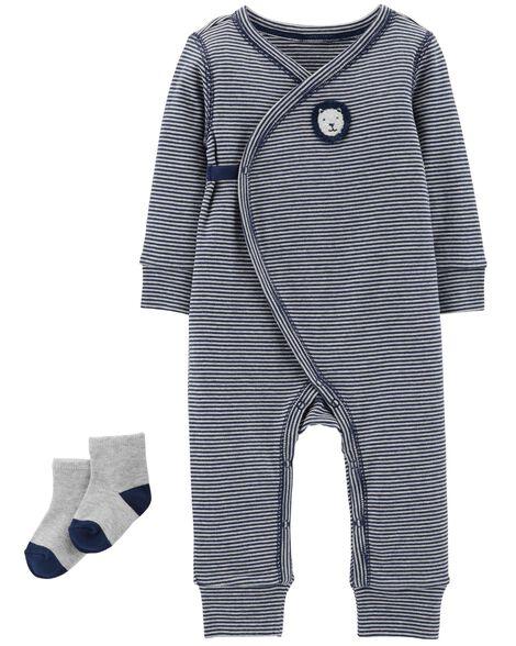 2-Piece Jumpsuit & Sock Set