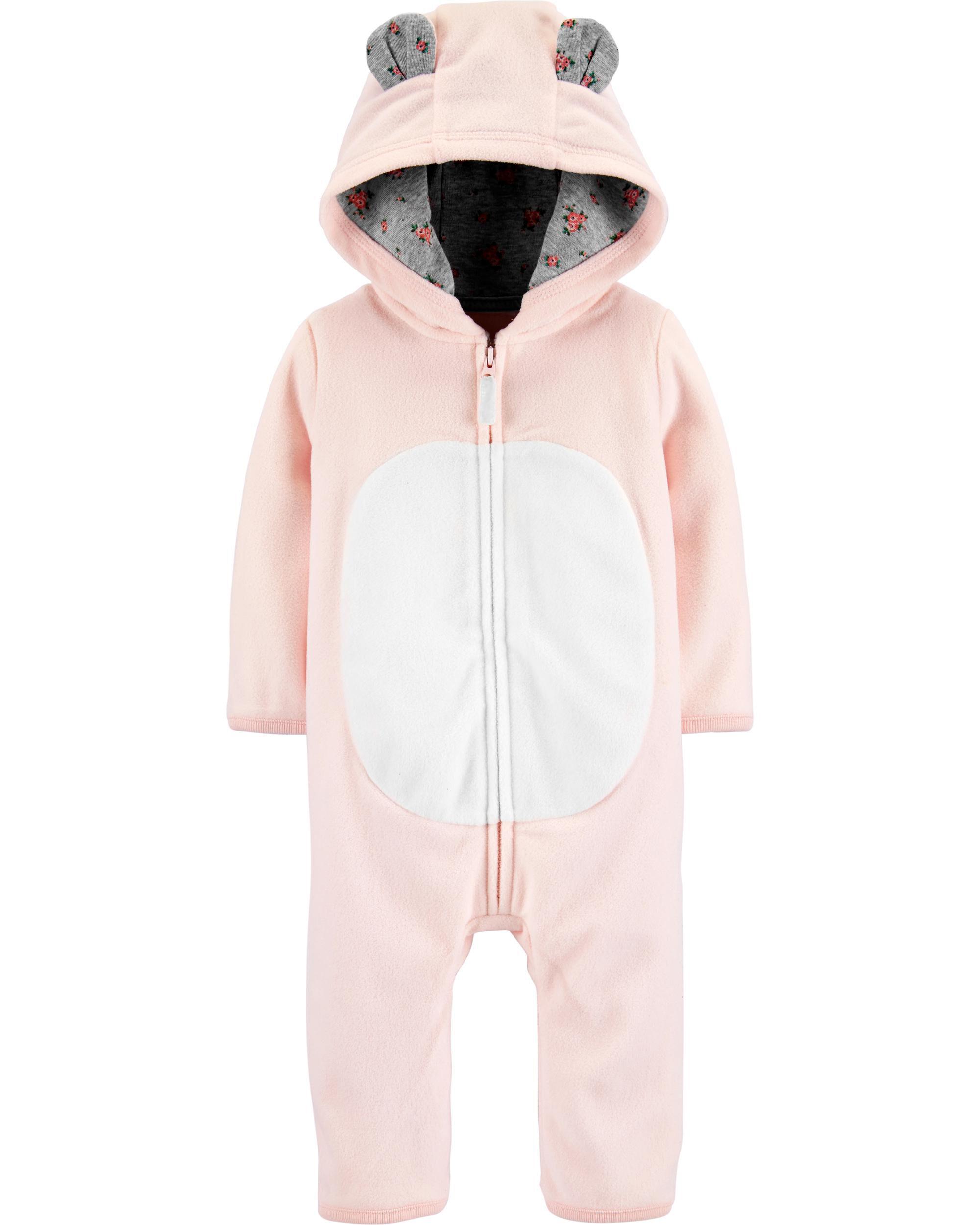 *CLEARANCE* Hooded Bear Fleece Jumpsuit