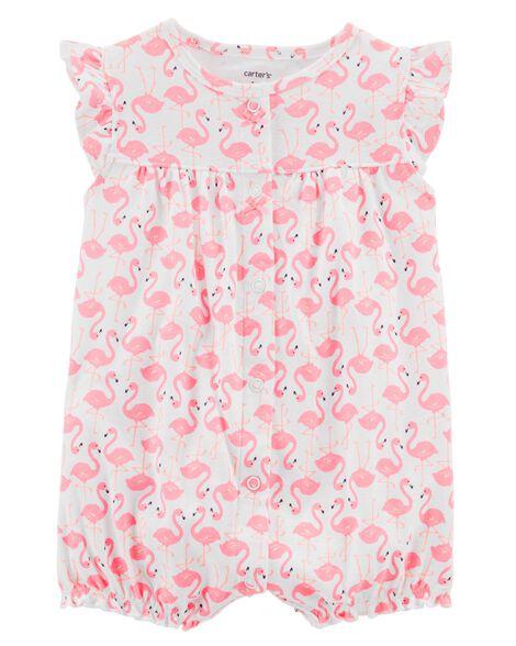 3d3bb43c0 Flamingo Snap-Up Cotton Romper | Carters.com
