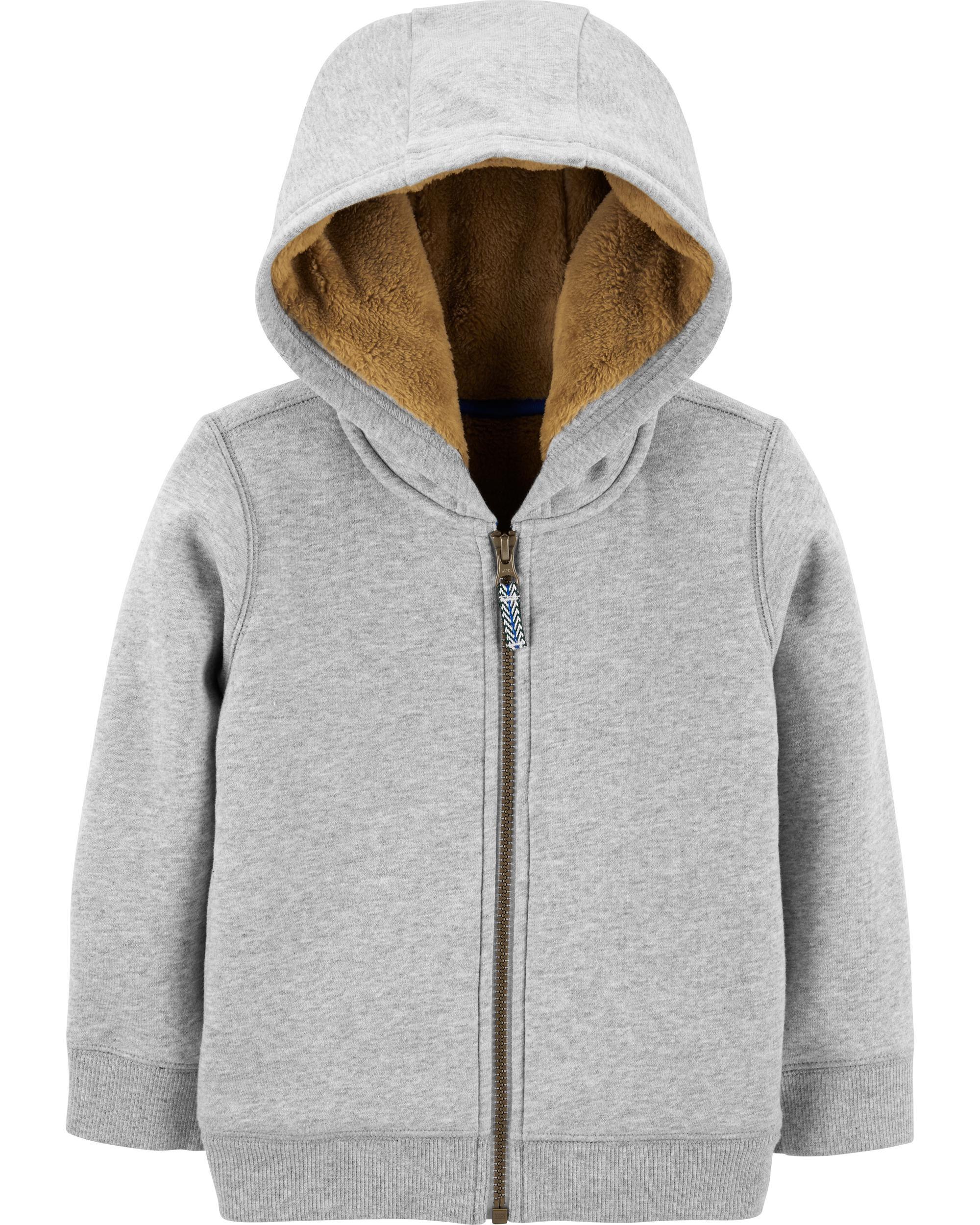 *CLEARANCE* Zip-Up Fleece-Lined Hoodie