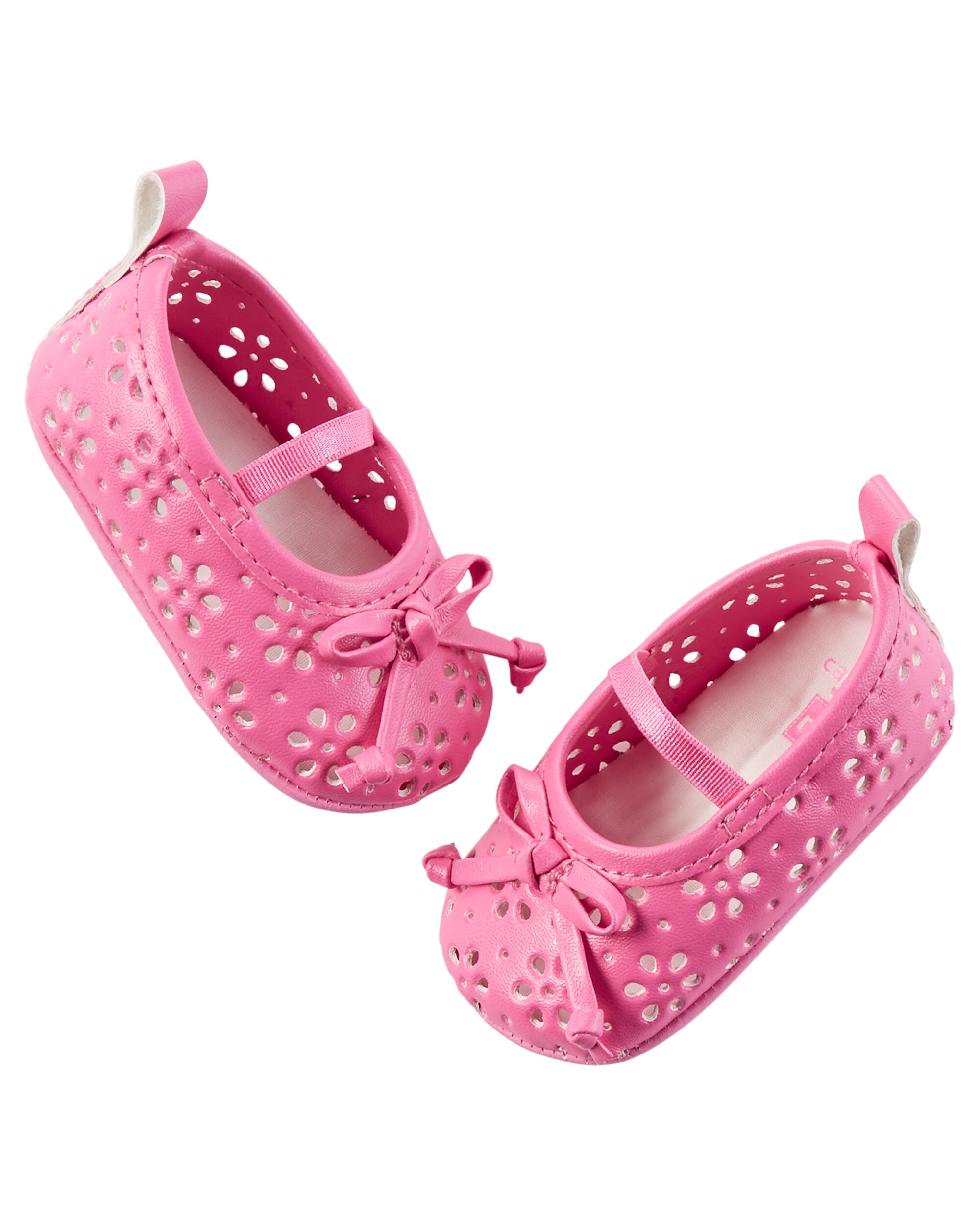 Carter s Perforated Mary Jane Crib Shoes