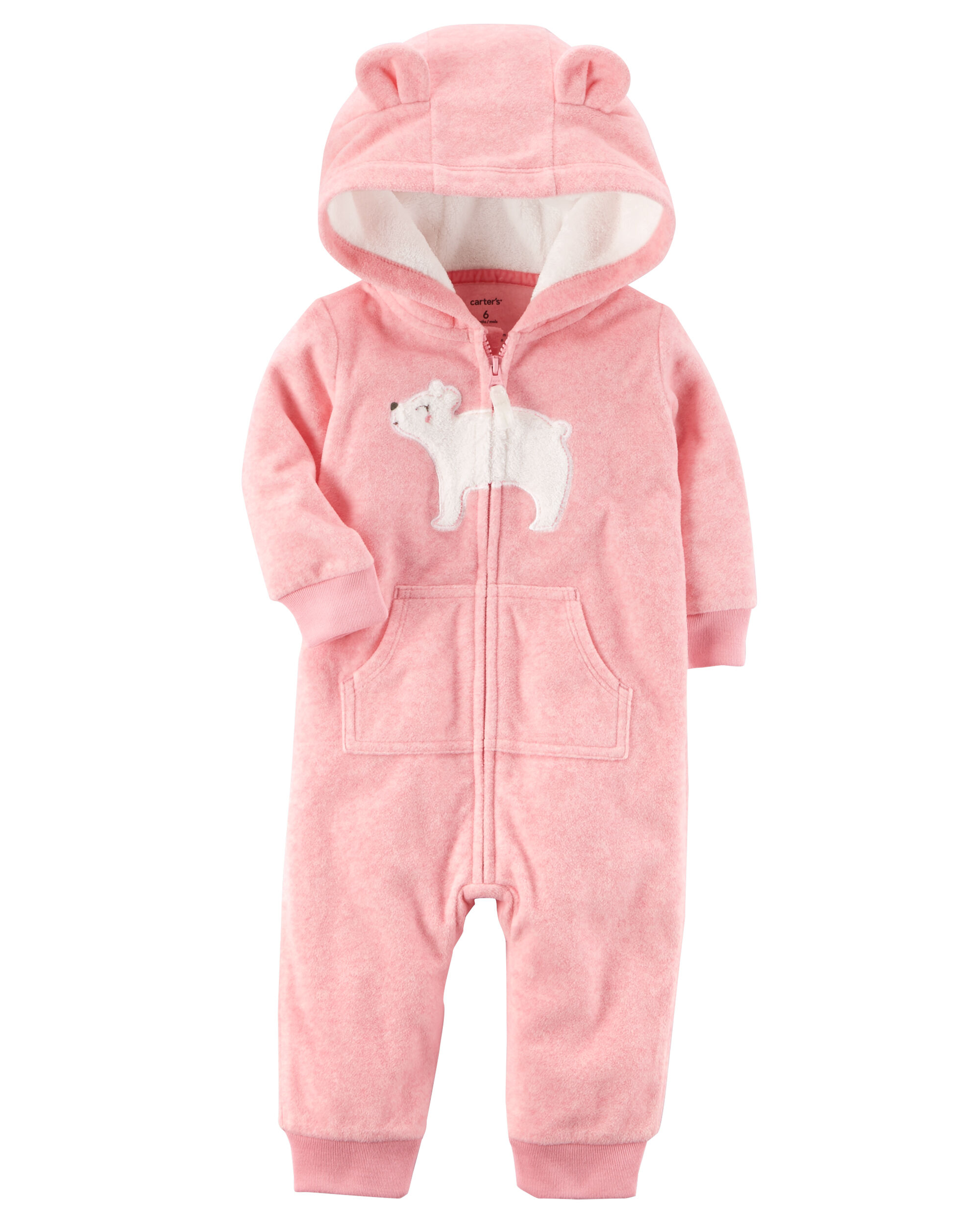 fb38aec4d5a6 Hooded Fleece Jumpsuit. Loading zoom