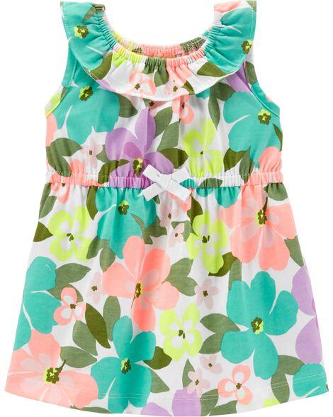e9fdf0f93a21 Floral Jersey Dress | Carters.com
