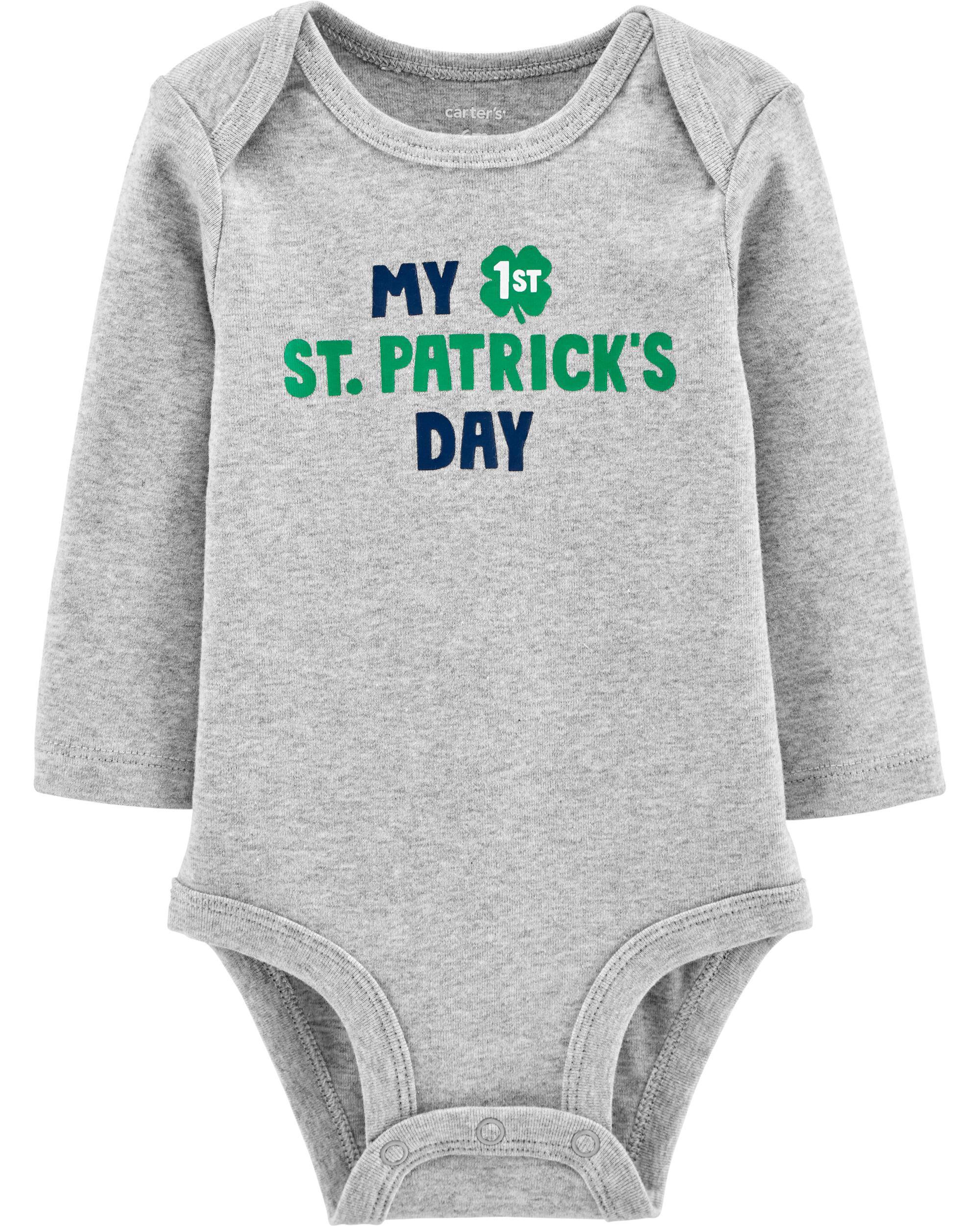 Paddy/'s Patrick/'s Day Size Newborn Bodysuit Carters Baby Boy My 1st First St