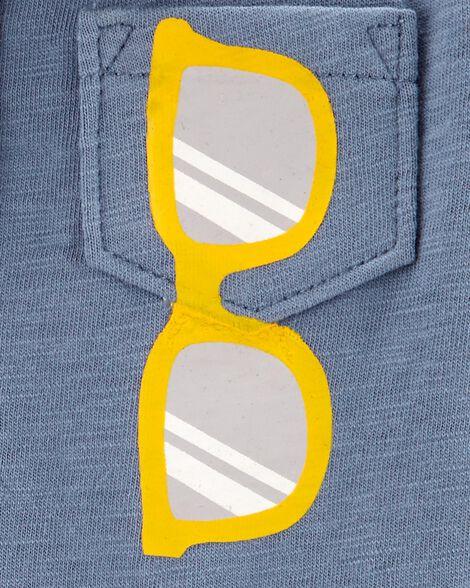 Sunglasses Slub Polo Romper