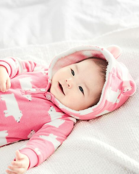 855d3bed921e Polar Bear Hooded Fleece Jumpsuit