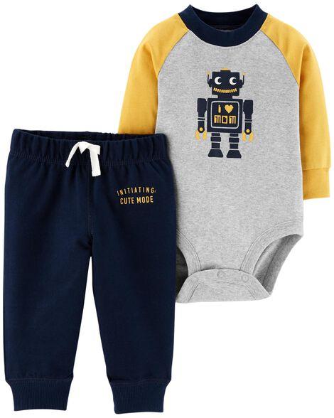 2b3cabad5 2-Piece Bodysuit Pant Set | Carters.com