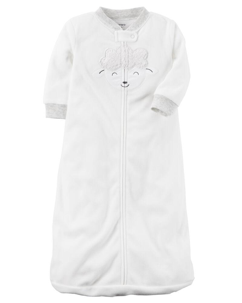 Carters Unisex Baby Fleece Sleepbag Sleepsuit Small 0-3 Months Sleeveless Blue Paws