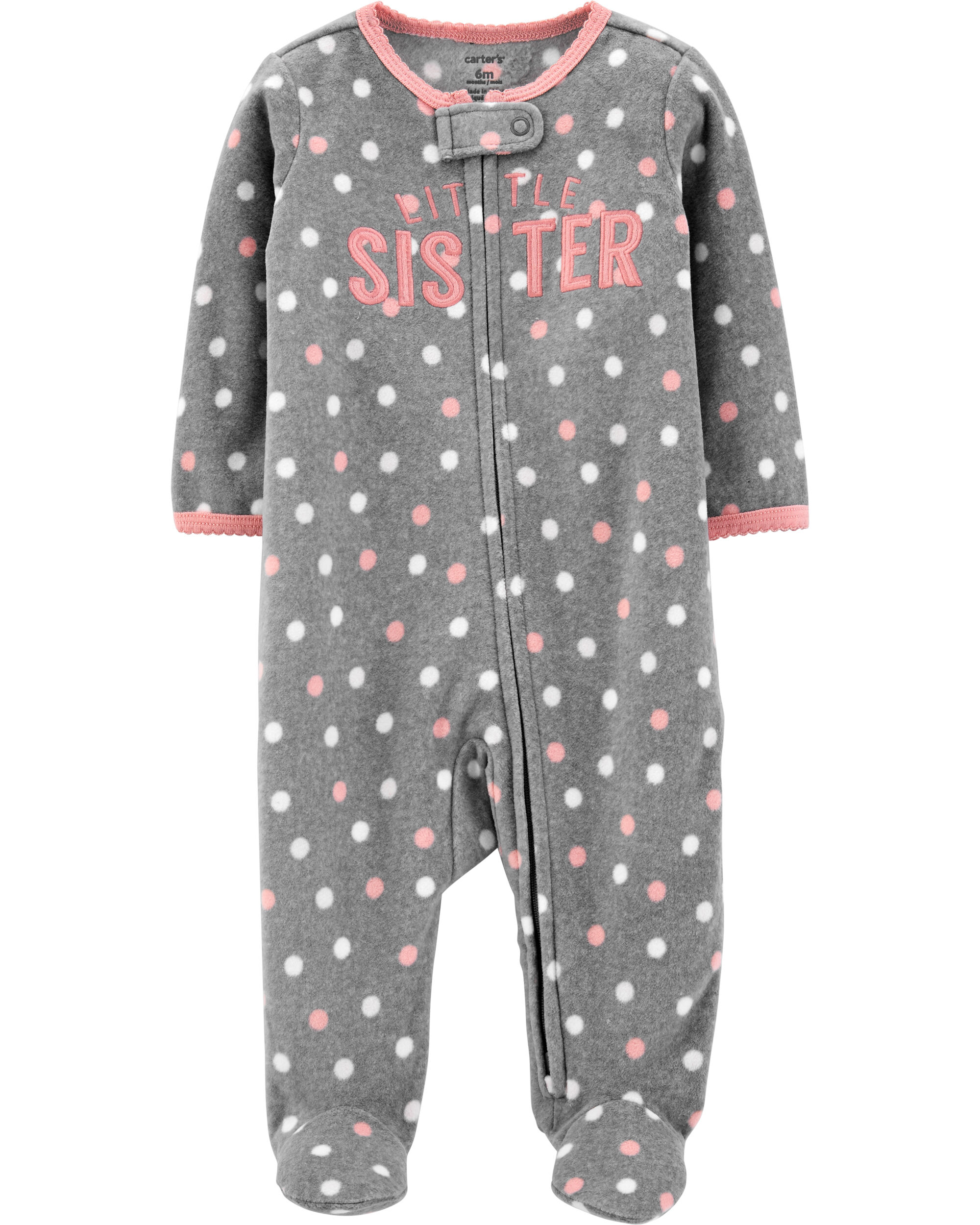 Sister Zip-Up Fleece Sleep & Play