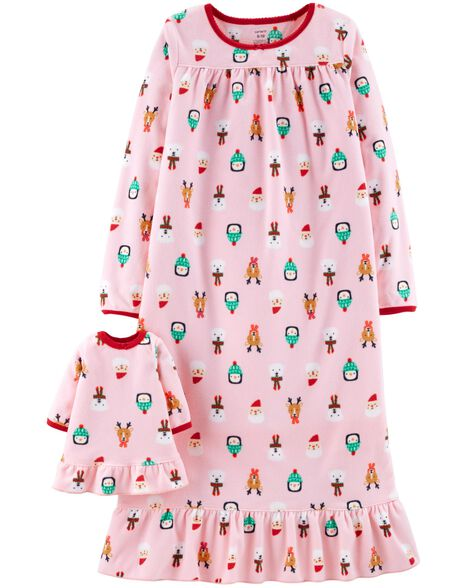 a863f6fd7 Christmas Matching Nightgown   Doll Nightgown Set