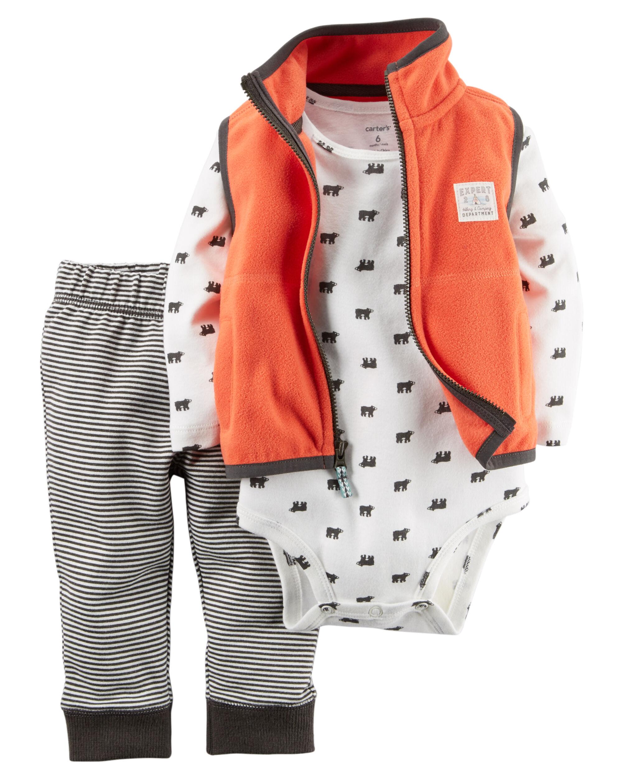 3 Piece Little Vest Set