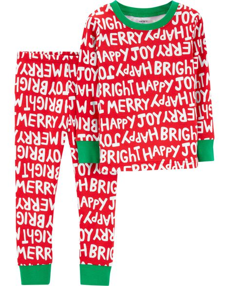 ad40e3270 2-Piece Christmas Snug Fit Cotton PJs