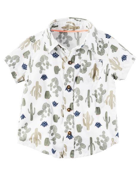 16d70c52 Cactus Poplin Button-Front Shirt | Carters.com