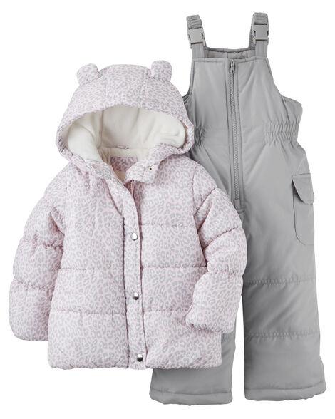 25d618157 Leopard Snowsuit Set