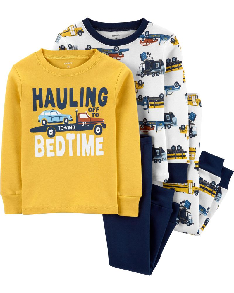 Carter/'s Toddler Boys 4 Pc Snug Fit Cotton Pajama Set NWT Dream Team   Size  2T