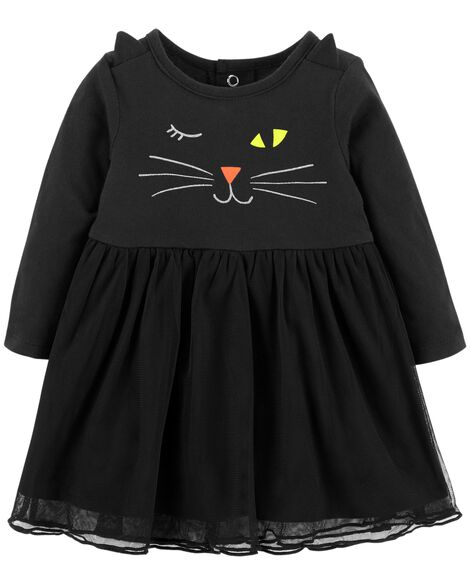 6fb104522 Halloween Cat Jersey Dress | Carters.com