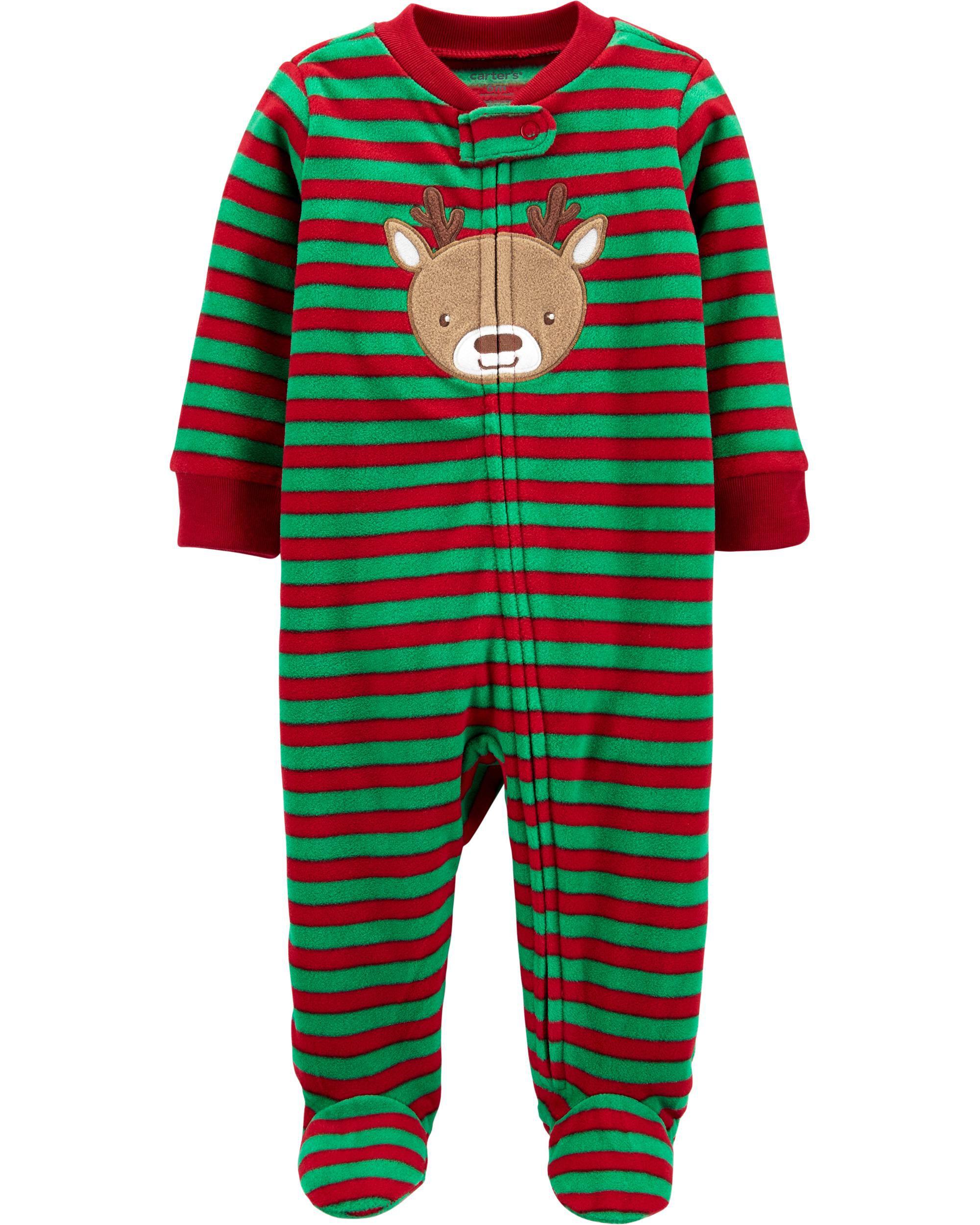 Carters Polyester Fleece One Piece Pajama Zip Front Sleepwear NWT Choice 2T