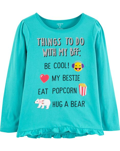 Glitter Things To Do With BFF Ruffle Tee
