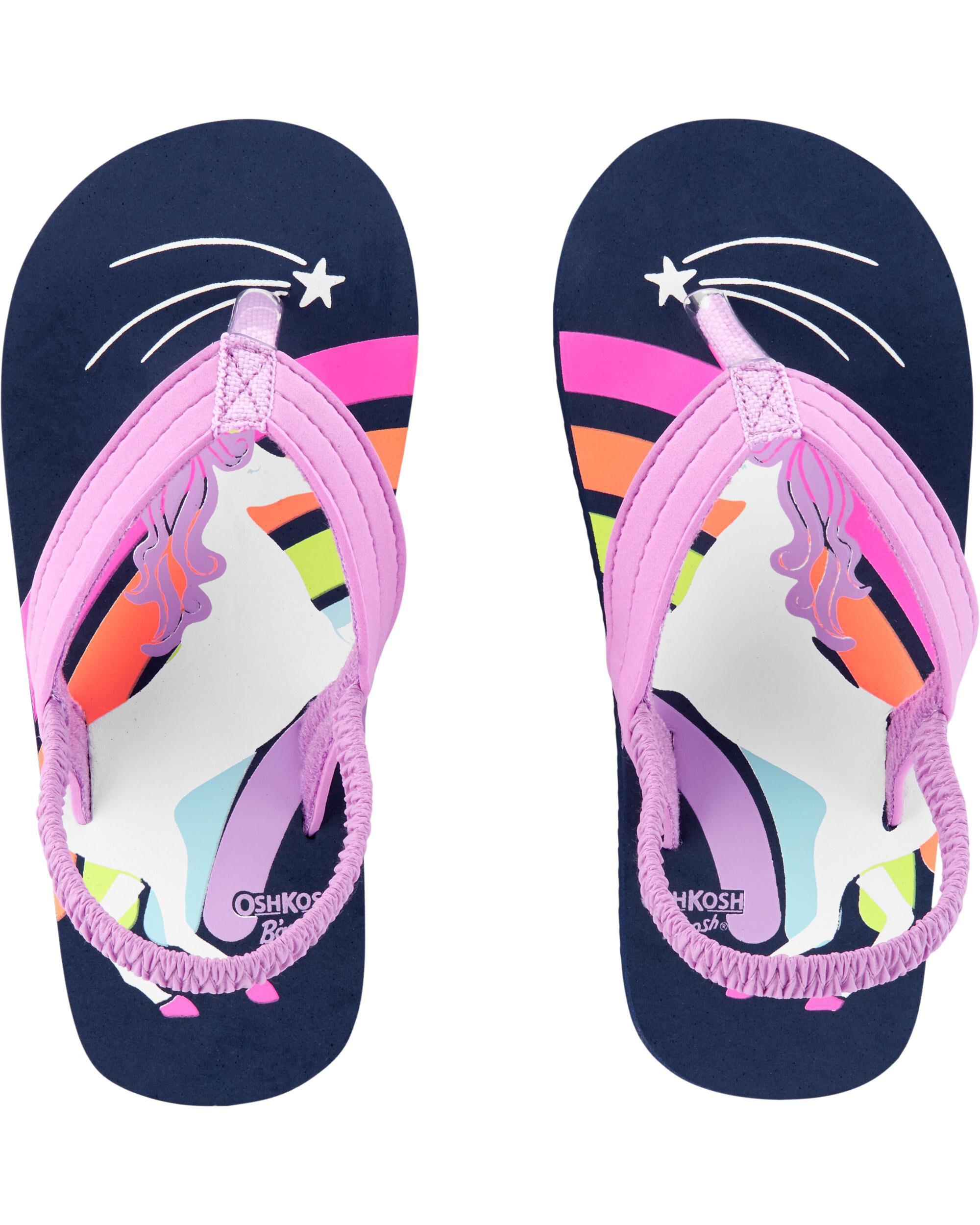 OshKosh Unicorn Flip Flops   carters.com