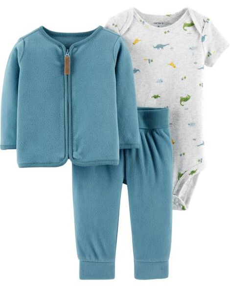 78b266cad5df 3-Piece Fleece Cardigan Set | Carters.com