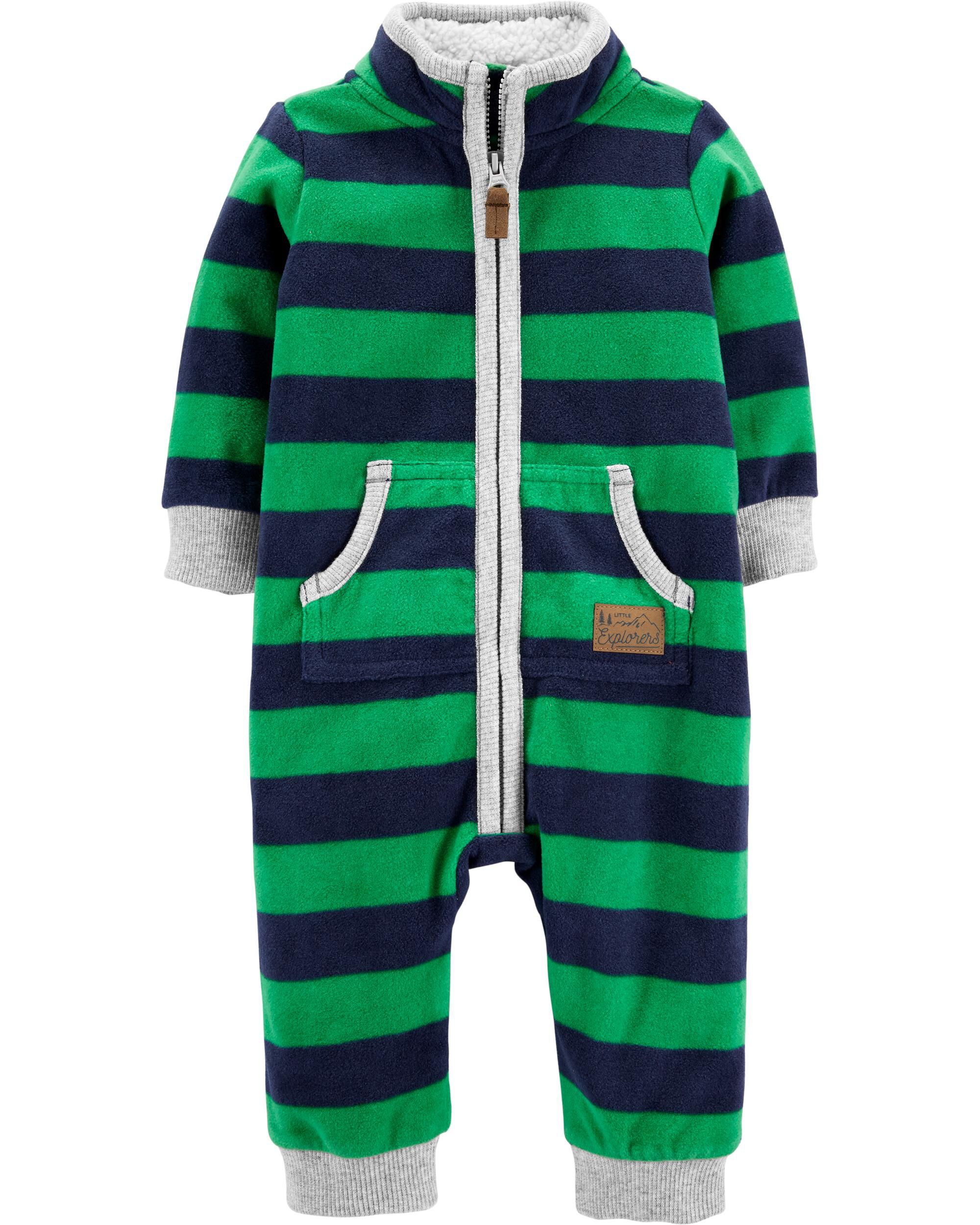 *DOORBUSTER* Zip-Up Striped Fleece Jumpsuit