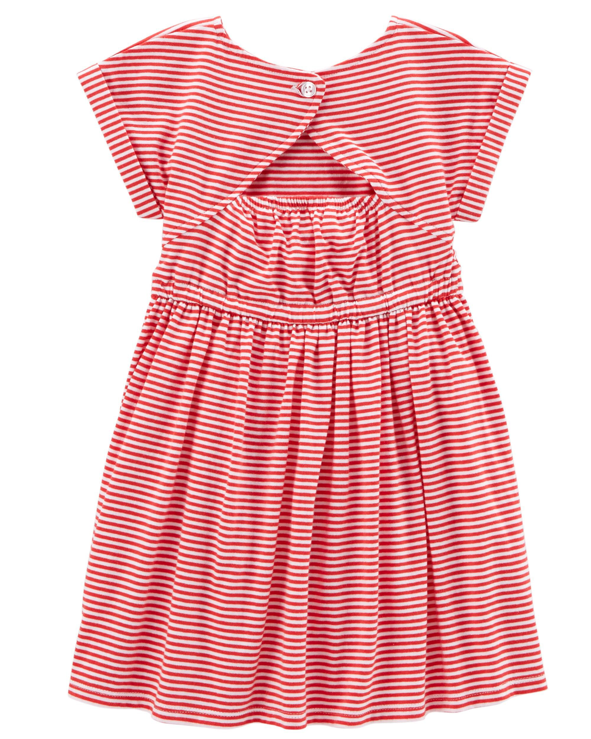 fe5a06813e6 ... Fourth Of July Striped Cut-Out Dress