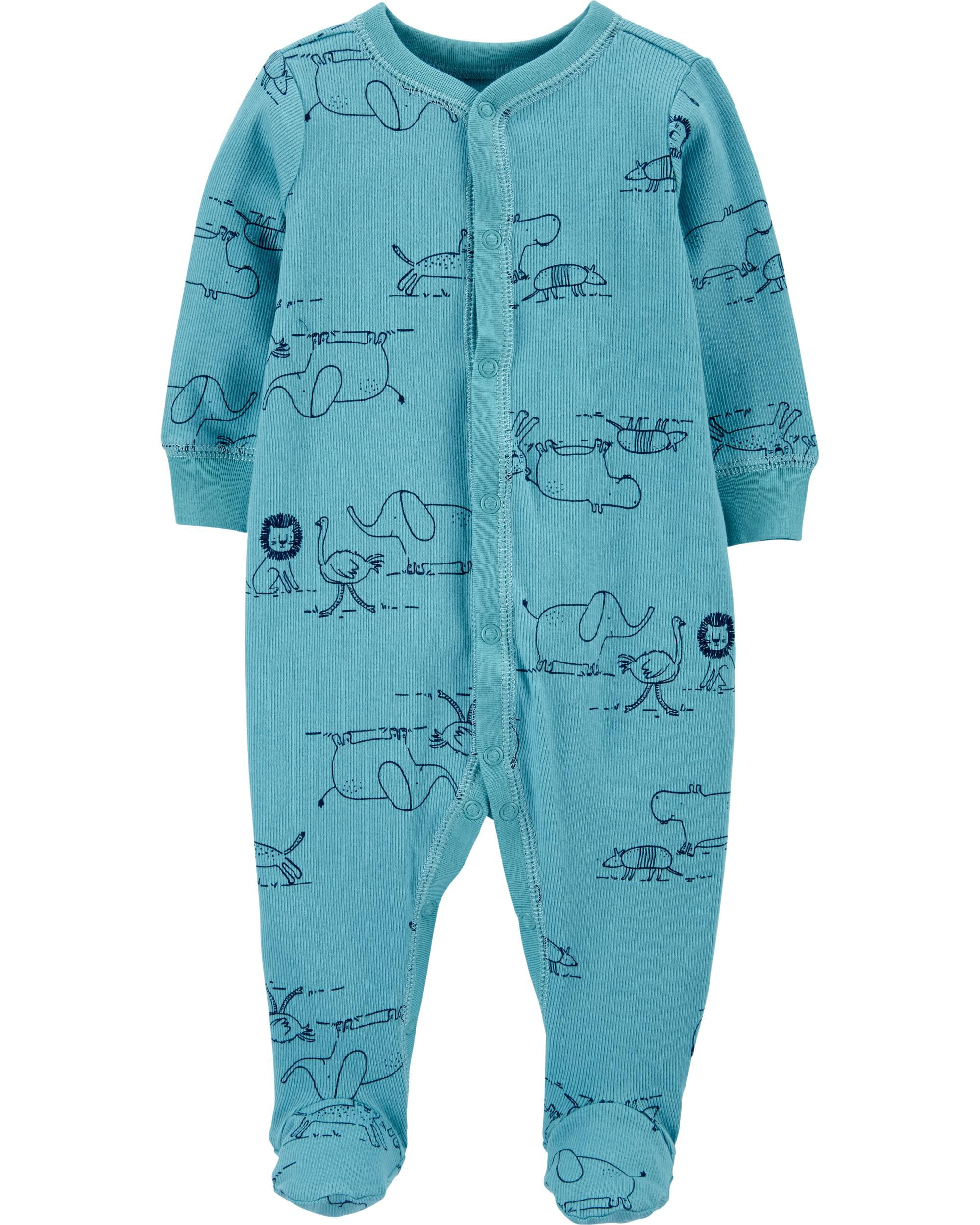 Carters Baby Boy Set of 3 One piece Shirts Zoo Animals Size 3 12 Months 6
