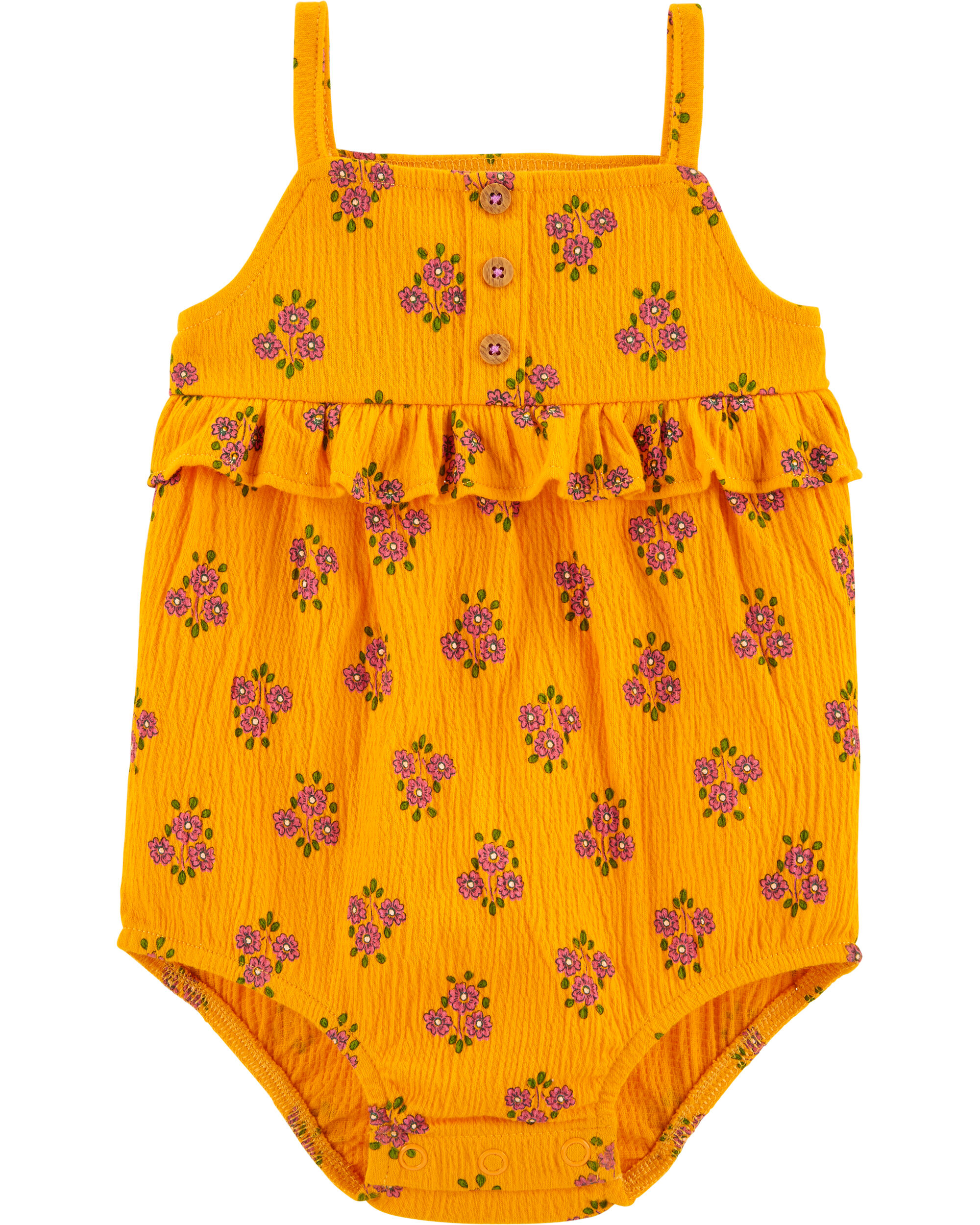 NWT OP Baby Infant Girls Orange Heart  One Piece Swimwear Suit PF 50