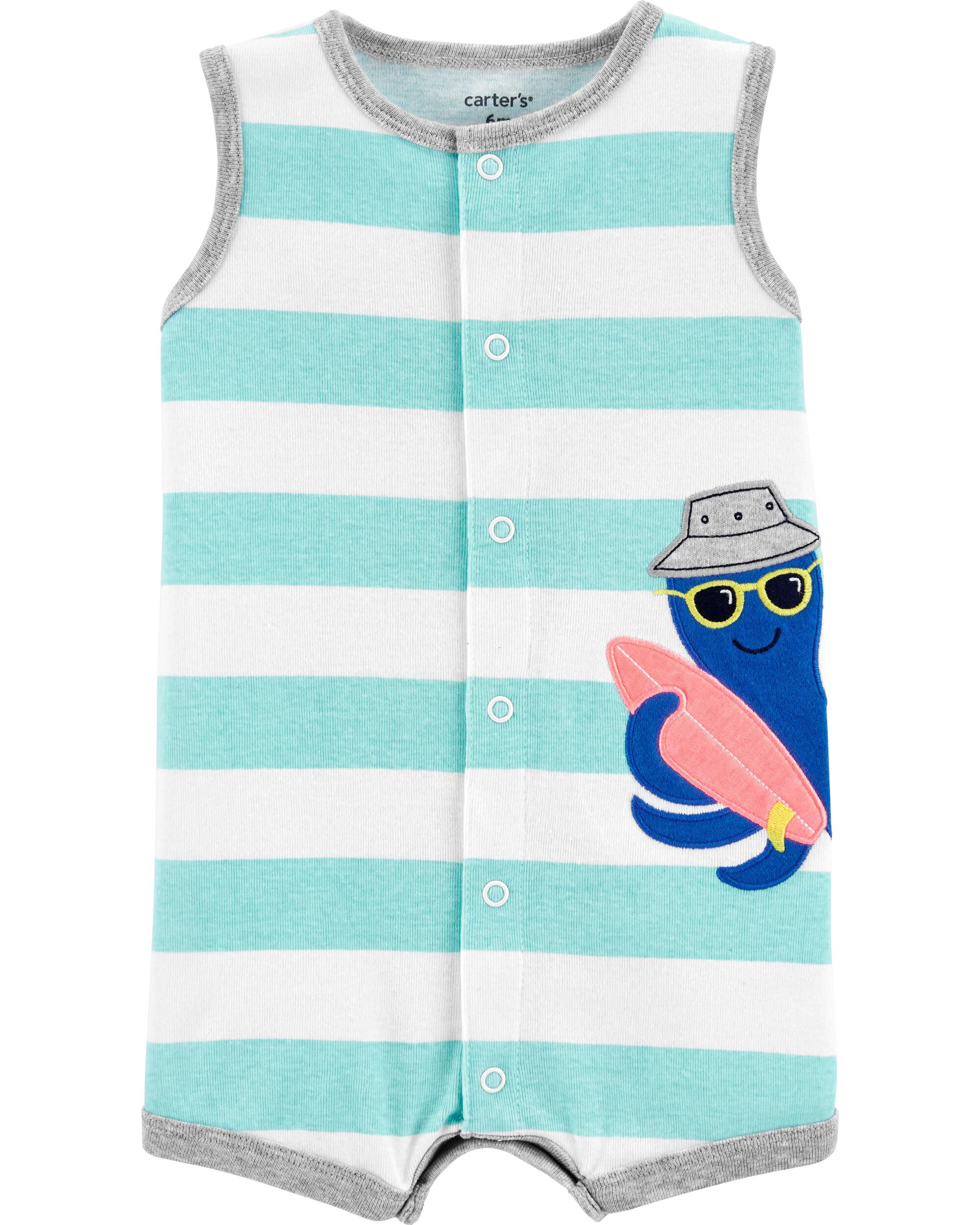 *CLEARANCE* Octopus Snap-Up Romper