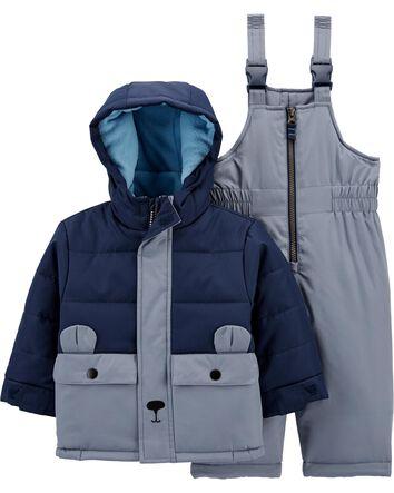 Baby coat grey soft fleece boy girl jacket with hood size 12-18 months