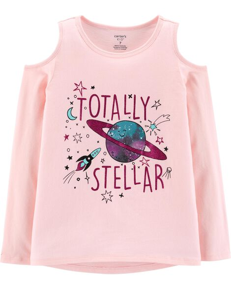 Totally Stellar Cold Shoulder Tee