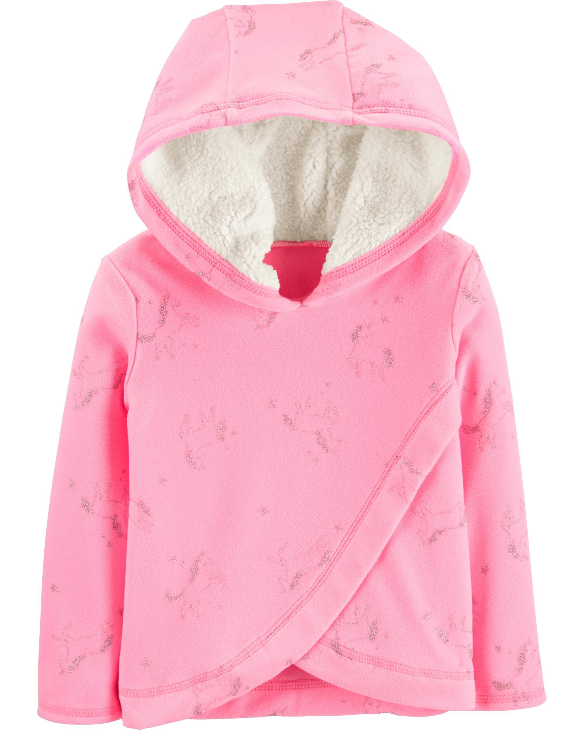 Carters Micro Fleece Jumper Bright Pink-24M