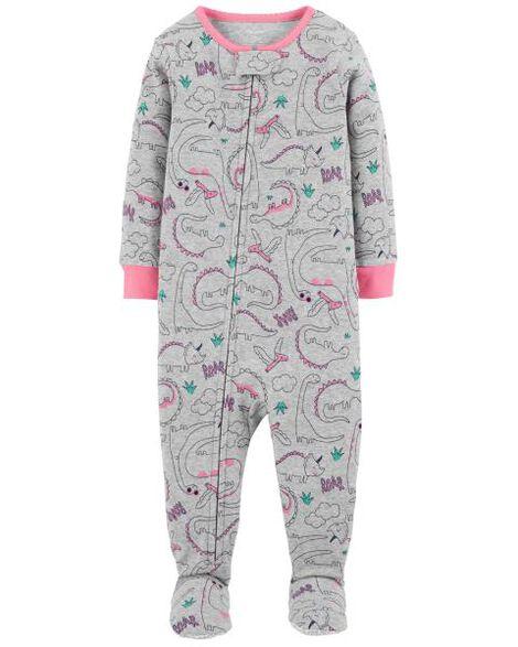 2fd50105d 1-Piece Dinosaur Snug Fit Cotton PJs