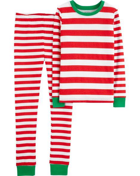 6c4d3143890e 2-Piece Christmas Snug Fit Cotton PJs
