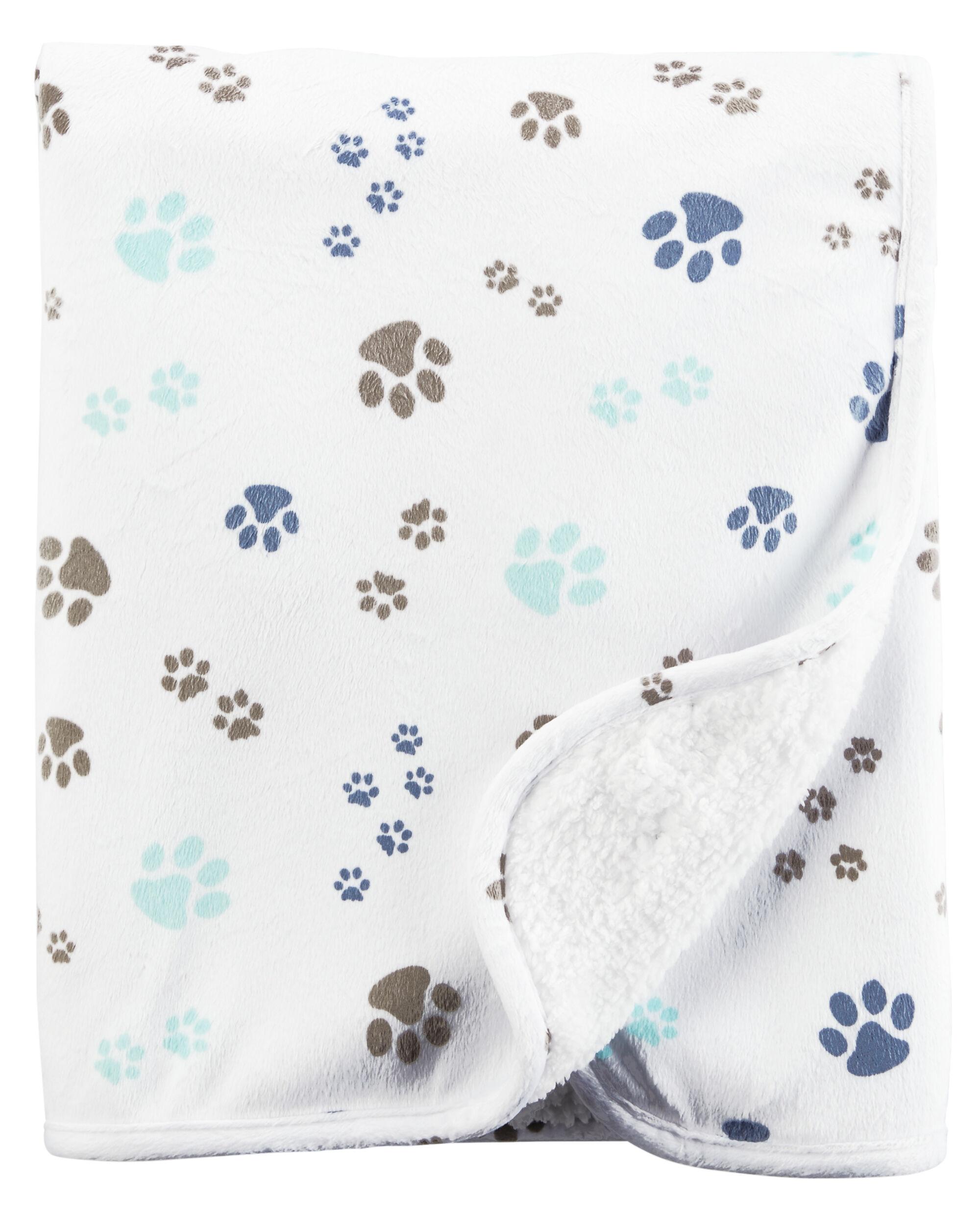 paw print plush blanket carters com