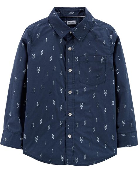 Poplin Button-Front Shirt