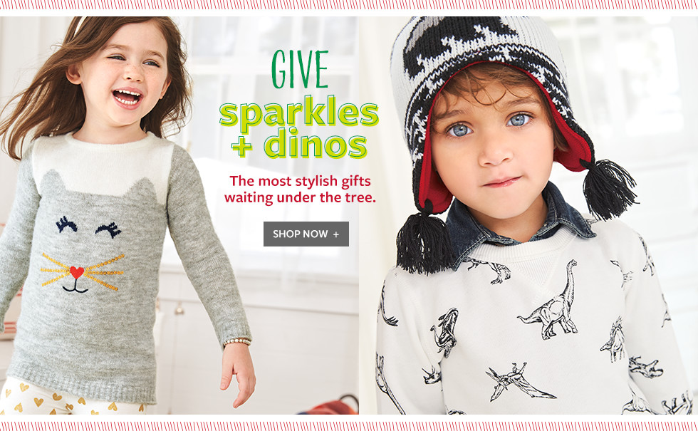 Give sparkles + dinos - the most stylish gifts waiting under the tree.
